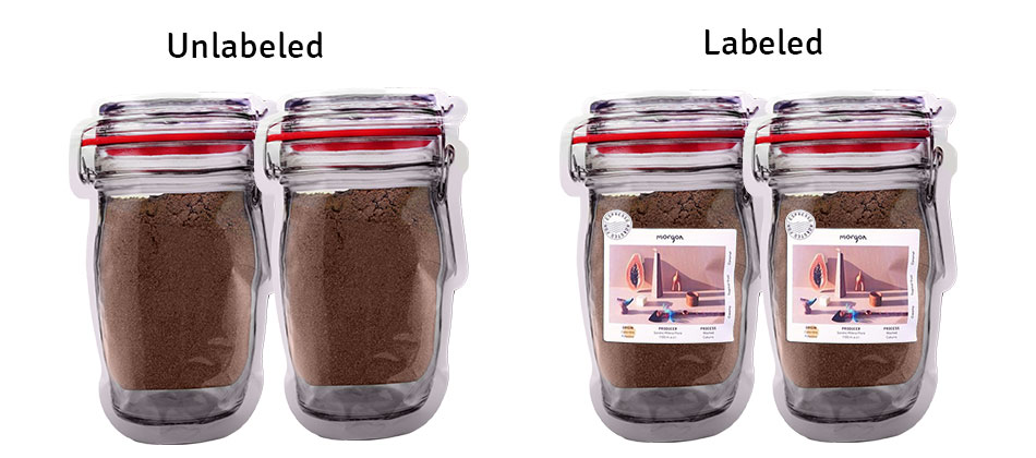 JAR SHAPED COFFEE PACKAGING POUCH