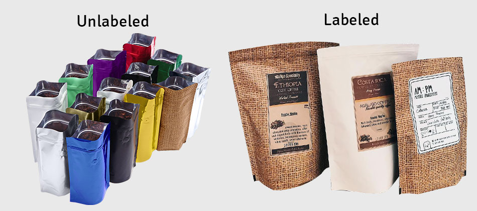 STAND UP POUCH COFFEE PACKAGING BAGS